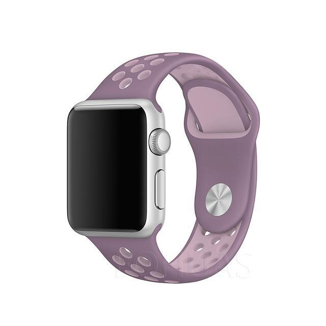 Sport Type Apple Watch Replacement Watch Strap for Apple Watch Bands Series 3 2 1 Purple Pink / 38mm SM ClickClickShip.com