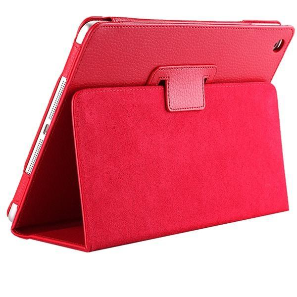 "iPad 2/ 3/ 4/ PU Leather Cover Smart Stand Holder Folio Case for 9.7""inch Screen Red ClickClickShip.com"