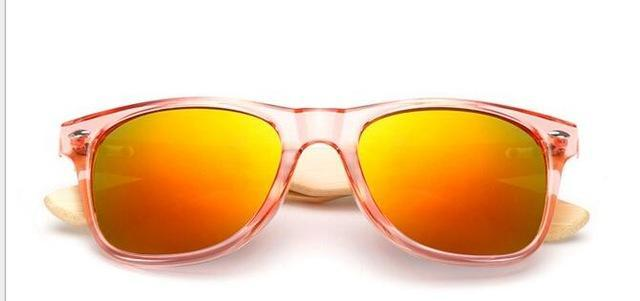 Unisex Wooden Sunglasses Red mercury ClickClickShip.com
