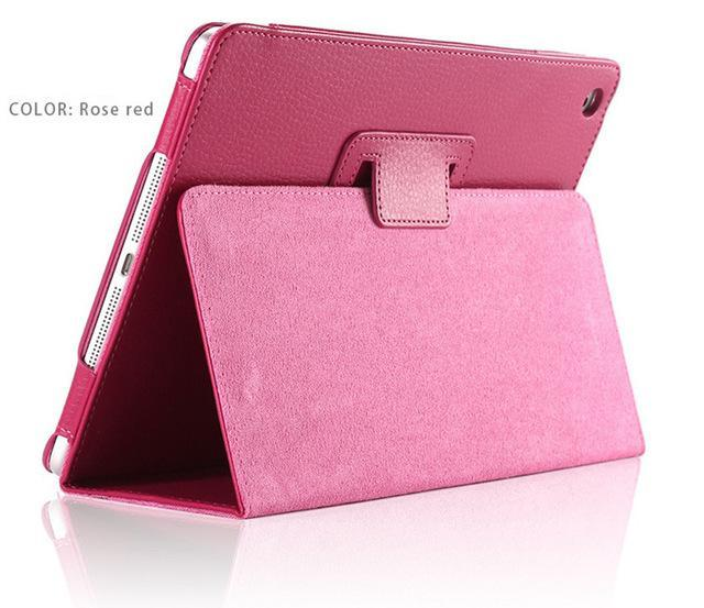 "iPad 2/ 3/ 4/ PU Leather Cover Smart Stand Holder Folio Case for 9.7""inch Screen Rose ClickClickShip.com"