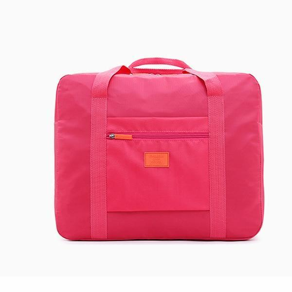 Foldable Travel Bag Rose Red ClickClickShip.com