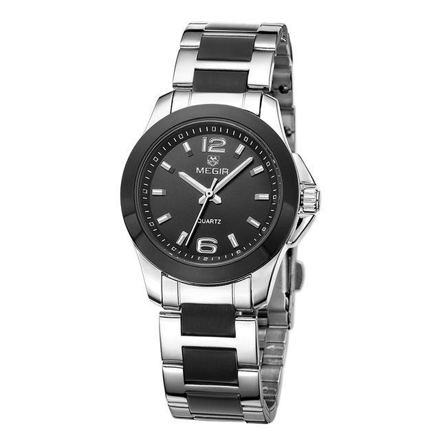 Luxury Dress Wristwatch Women Silver Black ClickClickShip.com