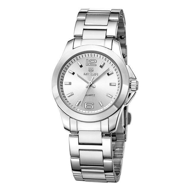 Luxury Dress Wristwatch Women Silver ClickClickShip.com