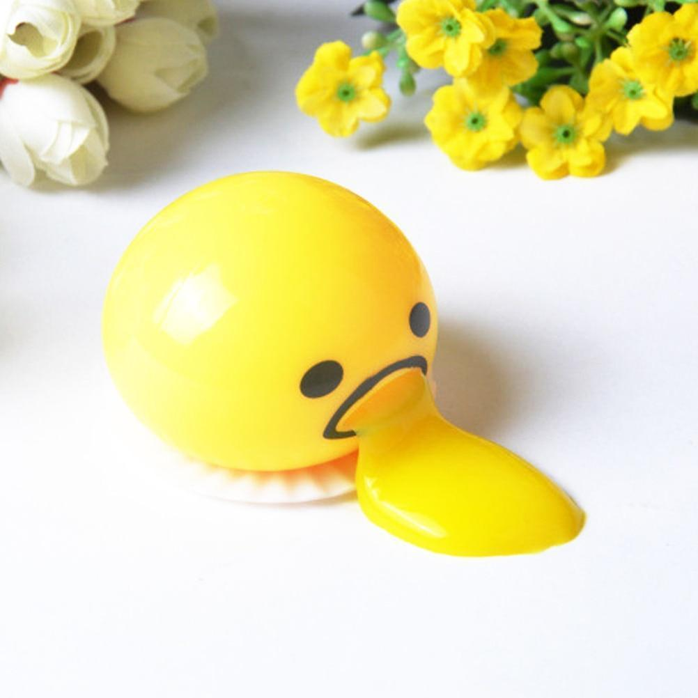 Squishy Puking Egg Yolk Stress Ball With Yellow Goop ClickClickShip.com