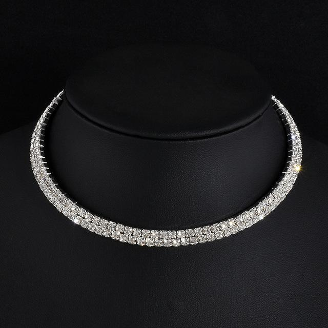Rhinestone Party Necklace For Women Type 2 ClickClickShip.com