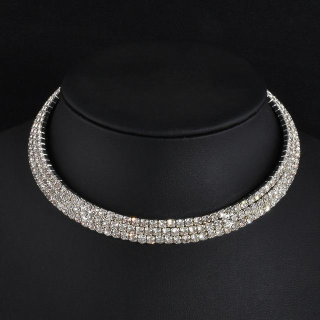 Rhinestone Party Necklace For Women Type 3 ClickClickShip.com