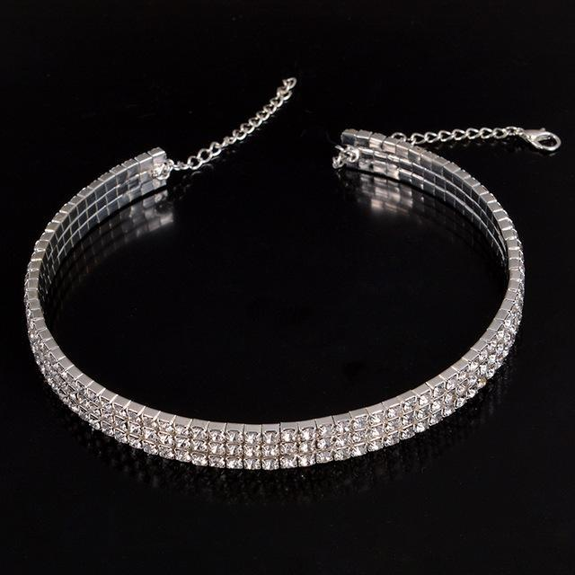Rhinestone Party Necklace For Women Type 6 ClickClickShip.com