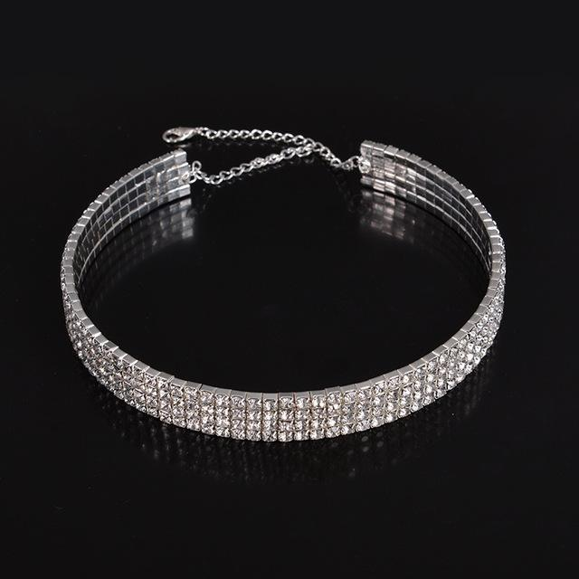 Rhinestone Party Necklace For Women Type 7 ClickClickShip.com