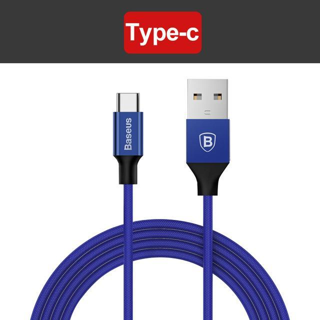 3 in 1 Universal USB Charging & Data Cable Type-c Blue / 120cm ClickClickShip.com