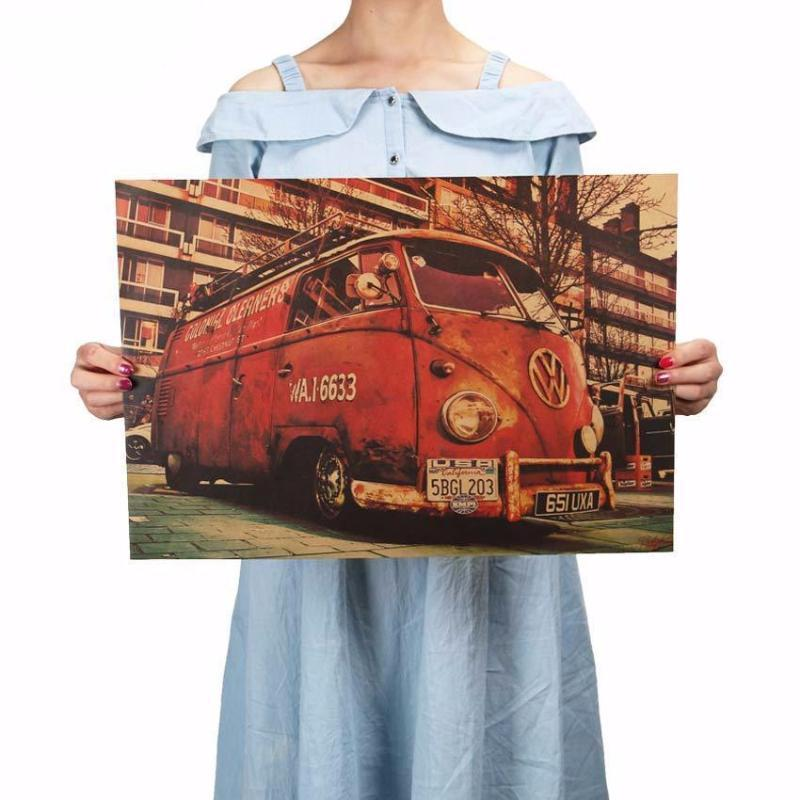 Vintage Bus Retro Painting