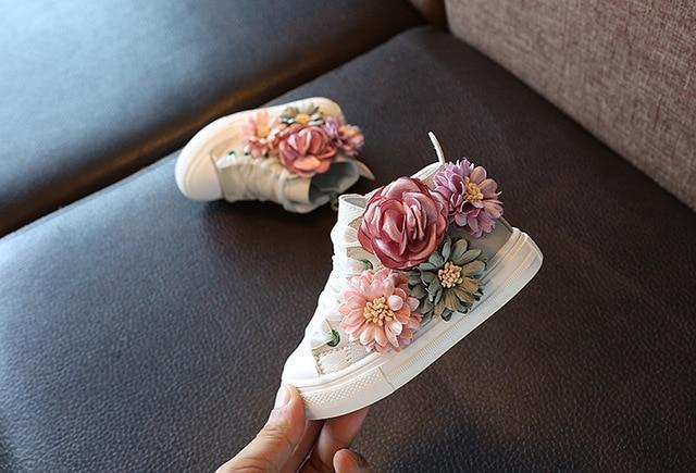 Floral Sneakers For Kids White / 6.5 ClickClickShip.com