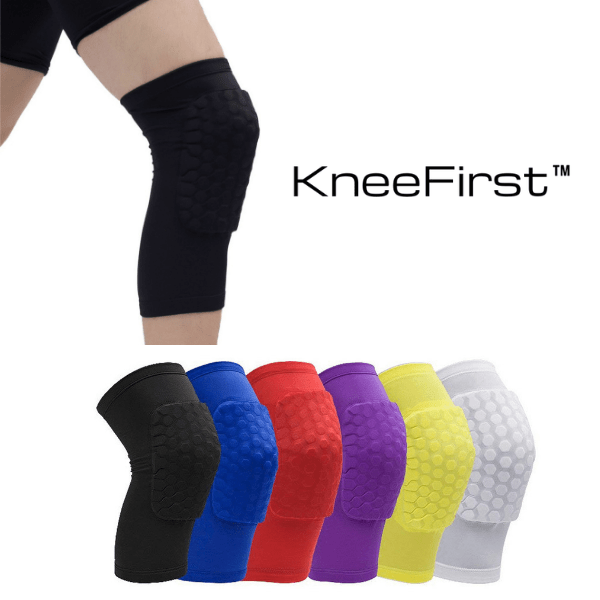 KneeFirst™ - Short Padded Knee Sleeve Pair