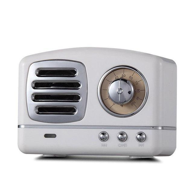 Vintage Retro Bluetooth Speaker White ClickClickShip.com