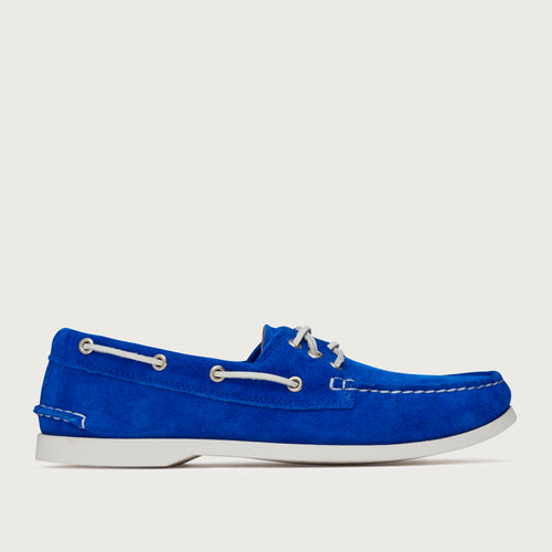 Downeast Boat - Bright Blue Suede