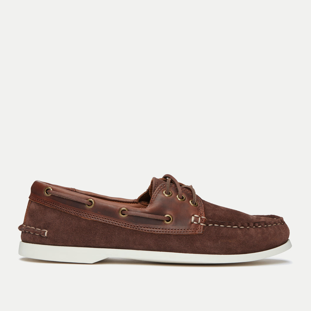 Downeast Boat Shoe - Brown Leather / Brown Suede
