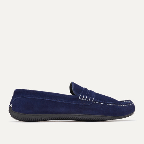 Penny Driver - Navy Suede