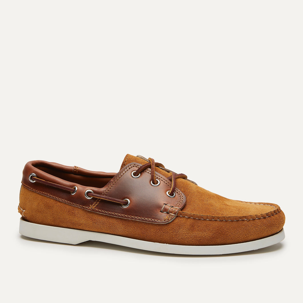 Classic Boat - HH Toast Suede & Cavalier Whiskey
