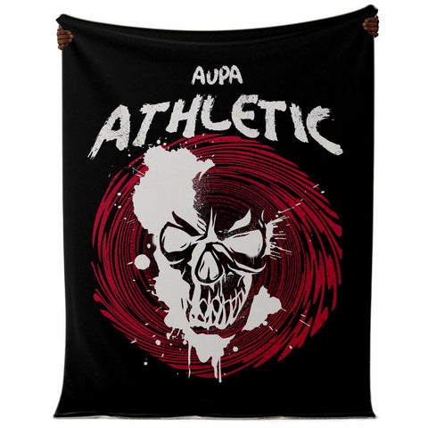 Manta del Athletic Calavera Aupa Athletic - Camisetas Del Athletic