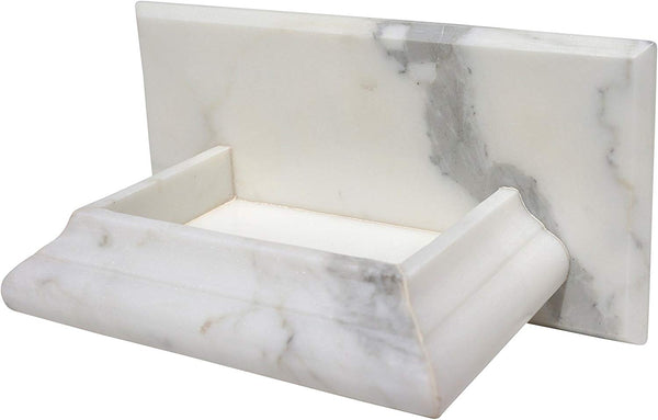 Calacatta Gold Marble (Italian Calcutta) Hand-Made Soap Holder - Budget Marble
