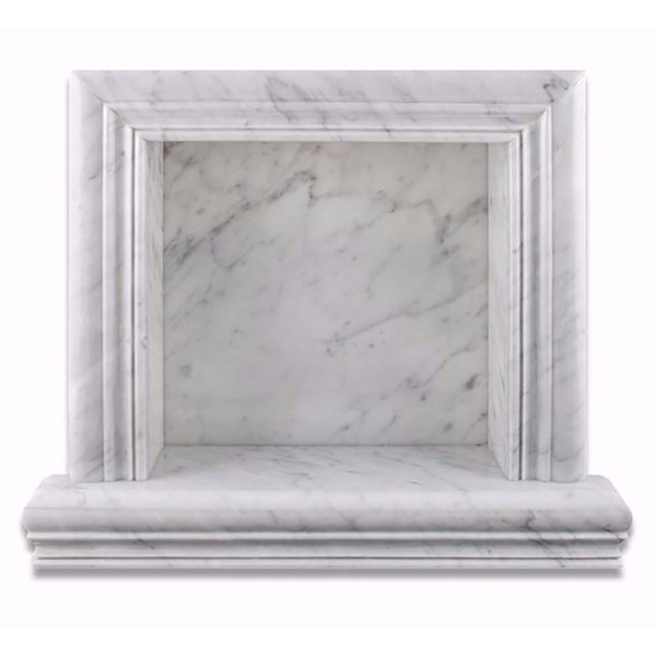 Carrara White Marble Hand-Made Custom Shampoo Niche SMALL - Badget Marble