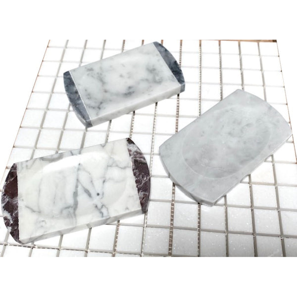 Carrara White Marble Soap Holder - Budget Marble