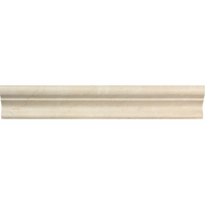 Crema Marfil Marble 2x12 Crown Mercer Molding Trim - Budget Marble
