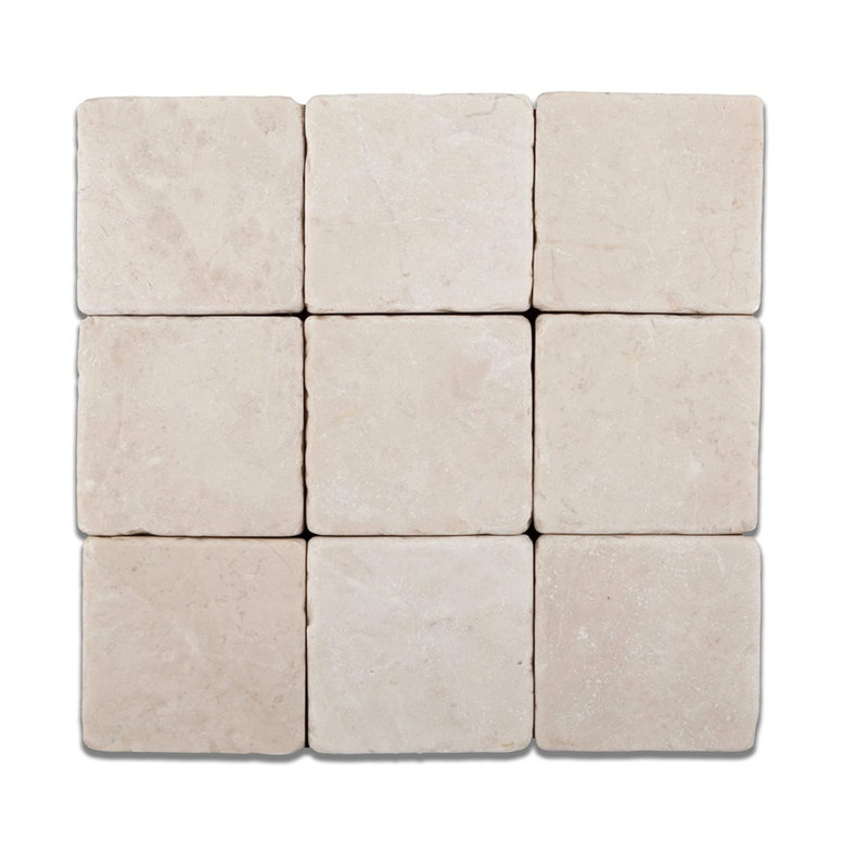 Crema Marfil 4x4 Square Mosaic Tile - Badget Marble