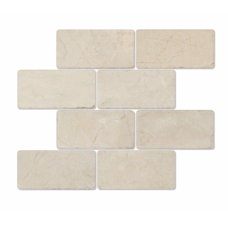 Crema Marfil Marble 3x6 Subway Tile - Budget Marble