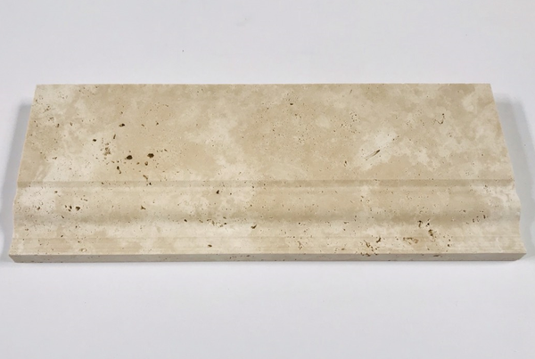"Ivory Travertine 5""x12"" Baseboard Trim Molding"