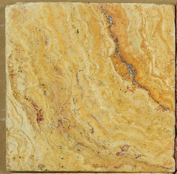 Scabos Travertine 4x4 Tumbled Square Tile Sample - Budget Marble