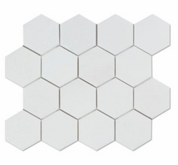 Thassos White Marble 3 Inch Hexagon Mosaic Tile From Greece Sample - Budget Marble