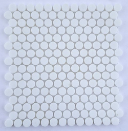 Thassos White Marble 3/4 inch Penny Round Mosaic Tile - Budget Marble