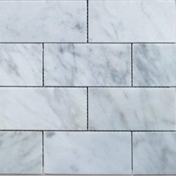 Carrara White Italian Carrera Marble 2x4 Subway Brick Tile Sample - Budget Marble