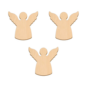 Angel - 9.8cm x 9.5cm - Wooden Shapes