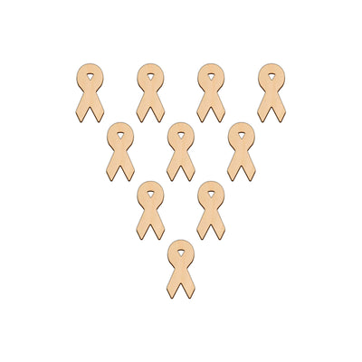 Awareness Ribbon - 4cm x 8.3cm - Wooden Shapes