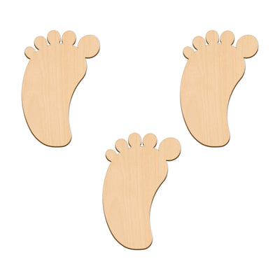 Baby / Babies Foot - 6.6cm x 10cm - Wooden Shapes