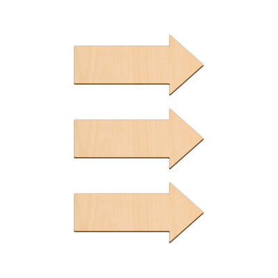 Basic Arrow - 10cm x 4.7cm - Wooden Shapes