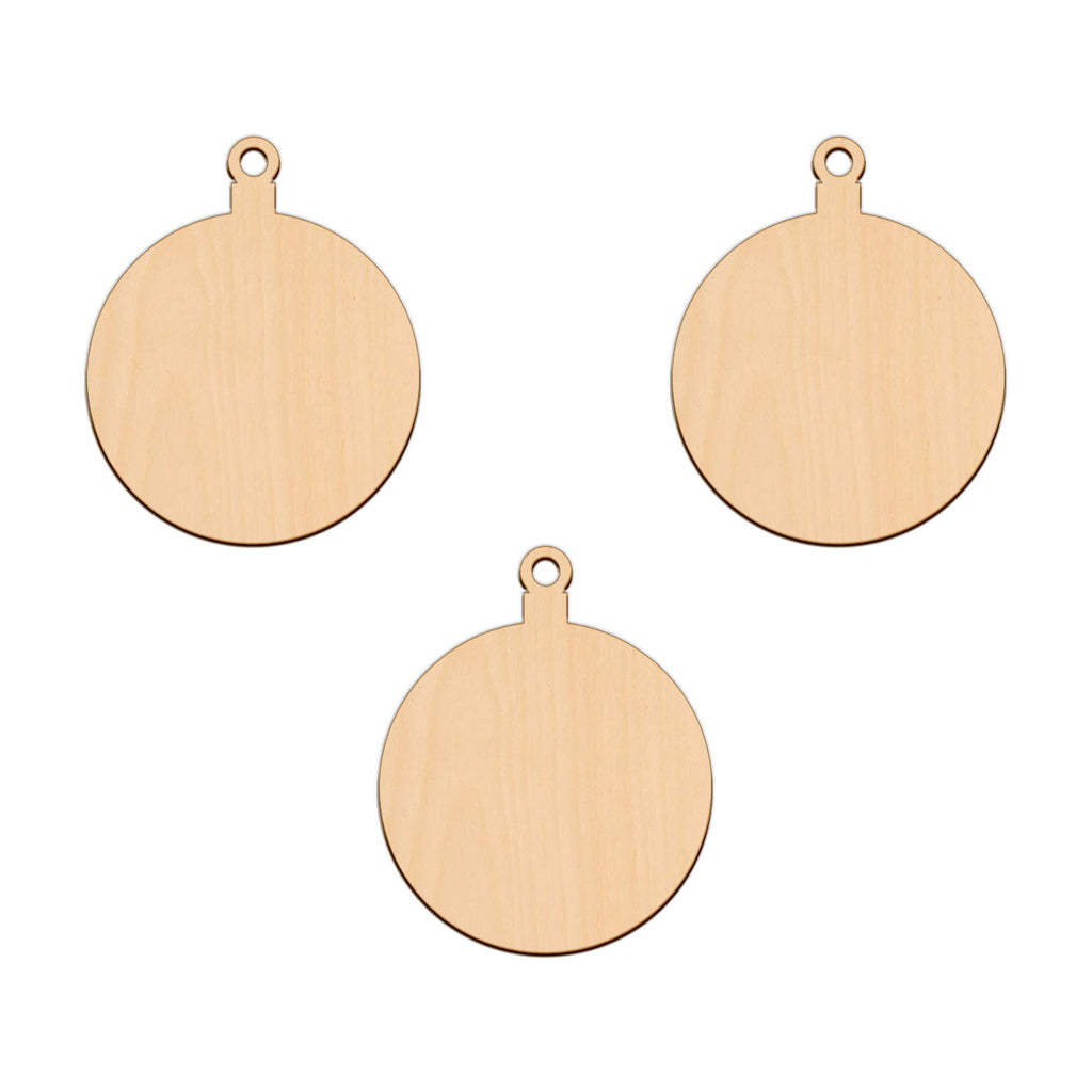 Bauble - 8.1cm x 10cm - Wooden Shapes