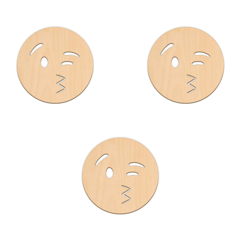 Blowing A Kiss Face Emoji - 10cm x 10cm