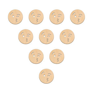Blowing A Kiss Face Emoji - 5cm x 5cm