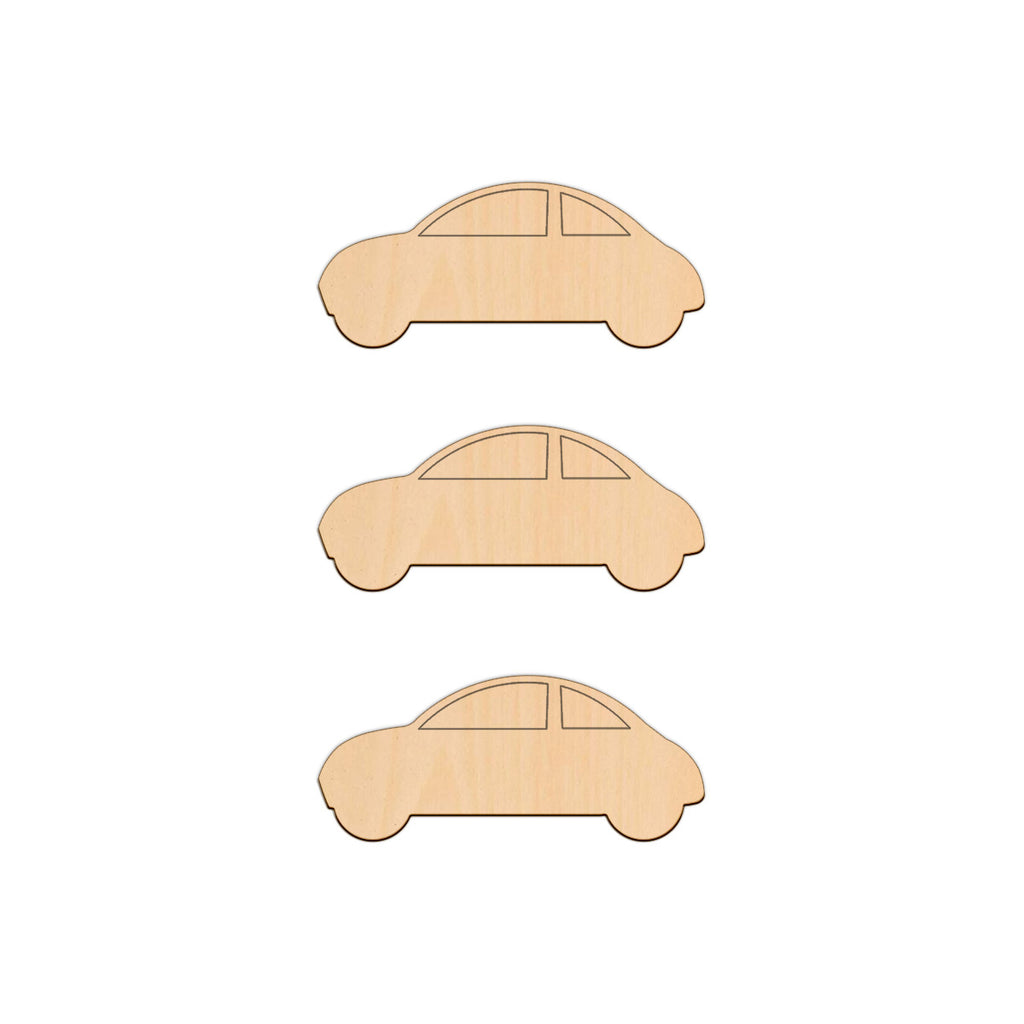 Car - 10cm x 4.2cm - Wooden Shapes