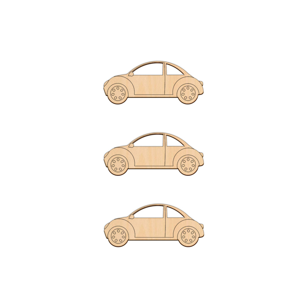 Detailed Car - 10cm x 4.2cm - Wooden Shapes