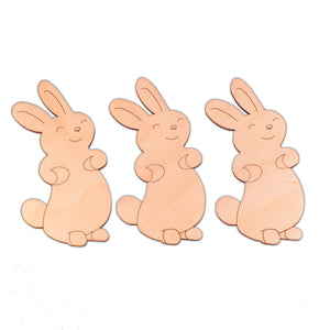Bunny (Style B) wooden shapes - 5.9cm x 10cm