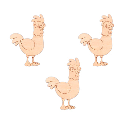 Chicken wooden shapes - 6.5cm x 10cm