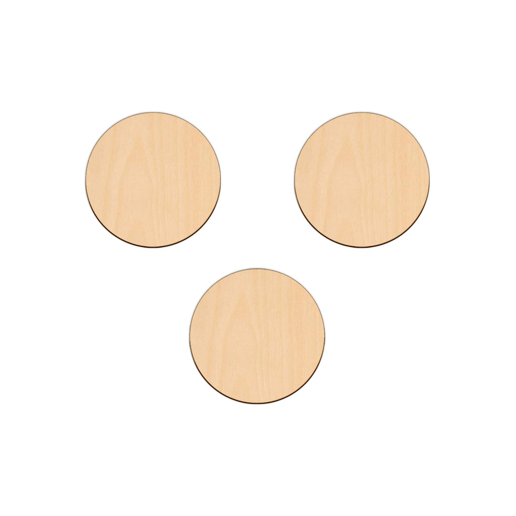 Circle - 10.2cm - Wooden Shapes
