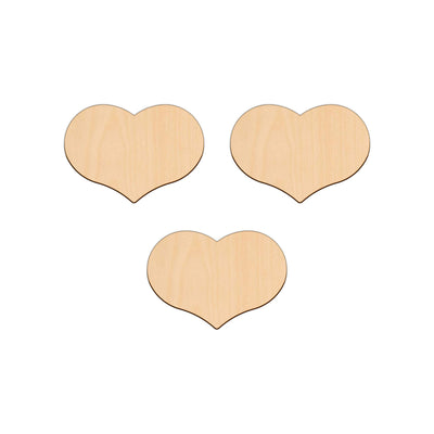 Country Heart - 11.6cm x 8.1cm - Wooden Shapes