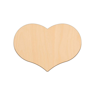 Country Heart - 25cm x 17.7cm - Wooden Craft Shapes