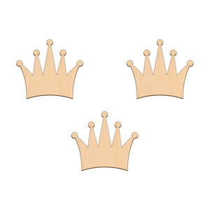 Crown - 10cm x 8.9cm - Wooden Shapes