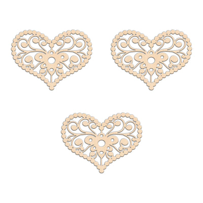 Decorative Country Heart (Style A) - 13.3cm x 10cm