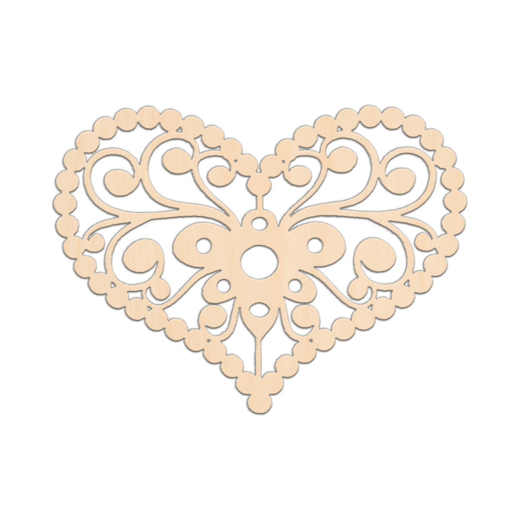 Decorative Country Heart (Style A) - 25cm x 18.7cm